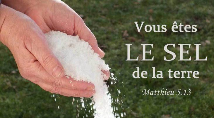 Vous êtes le sel de la terre Matthieu5.13